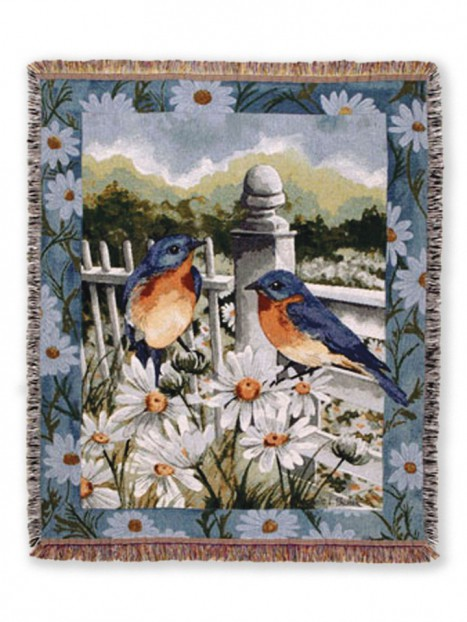 Blue Bird Summer Throw