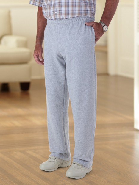 Large Size (3X-4X) Open Cuff Sweatpant