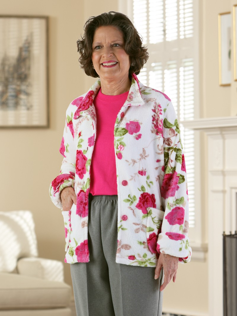 Rose Print Cardigan (sm only)