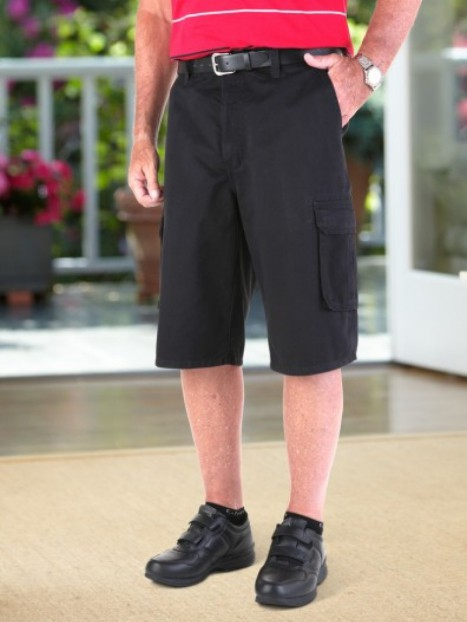 Twill Cargo Shorts with VELCRO® brand fastener fly