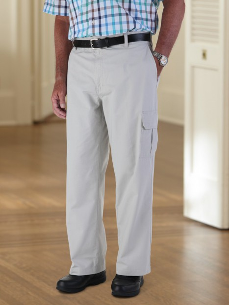 Light Weight Cargo Pants-Zipper Fly