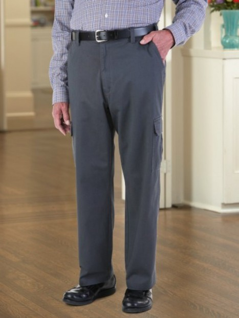 Twill Cargo Pant with Zipper Fly