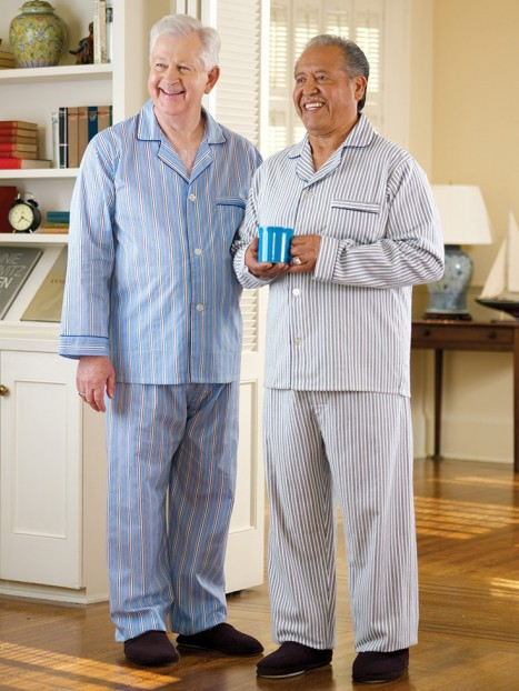 Men's Cotton/Poly Pajamas-Velcro Front (S-3X)