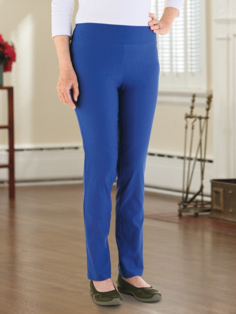 Wide Waistband Slender-fit Pants