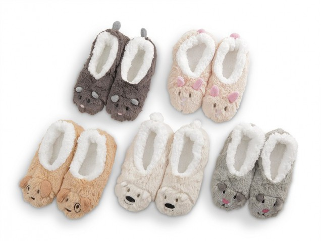 Snoozies Fur Animals Slippers