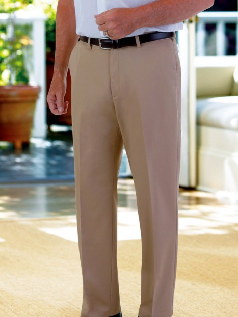 Haggar Cotton Slacks with VELCRO® Brand fasteners Fly