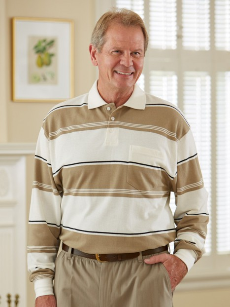 Long Sleeve Snap Back Polo Shirt