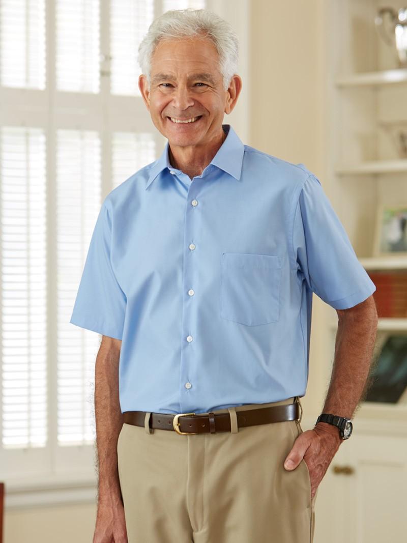 Men 39 S Short Sleeve Dress Shirt Buck Buck