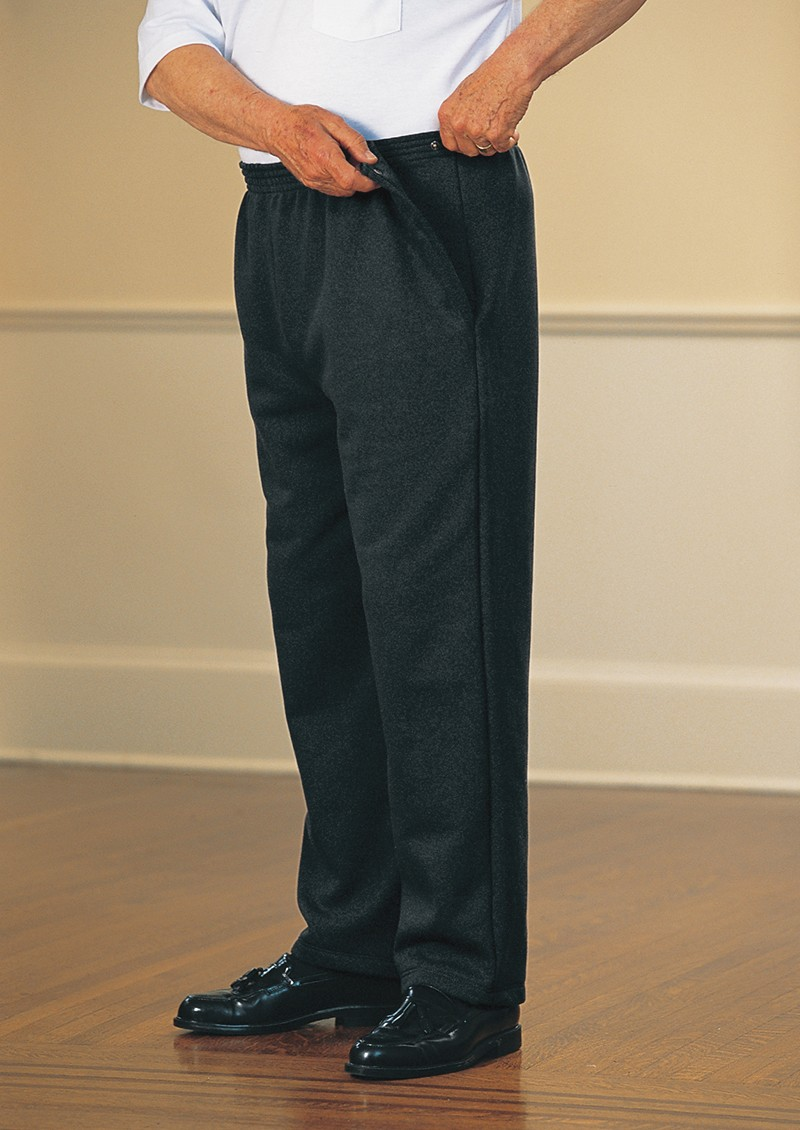 Men's Fleece Side-Snap Pants