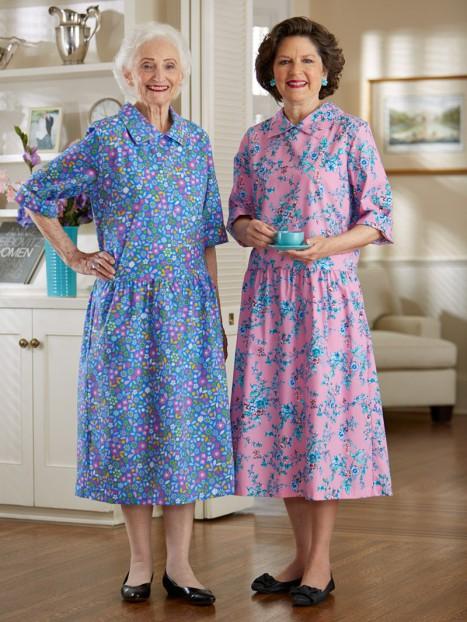 Cotton/Poly Drop-Waist Snap Back Dress