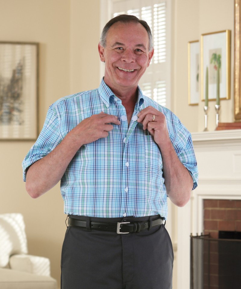Short Sleeve Velcro Front Sport Shirt