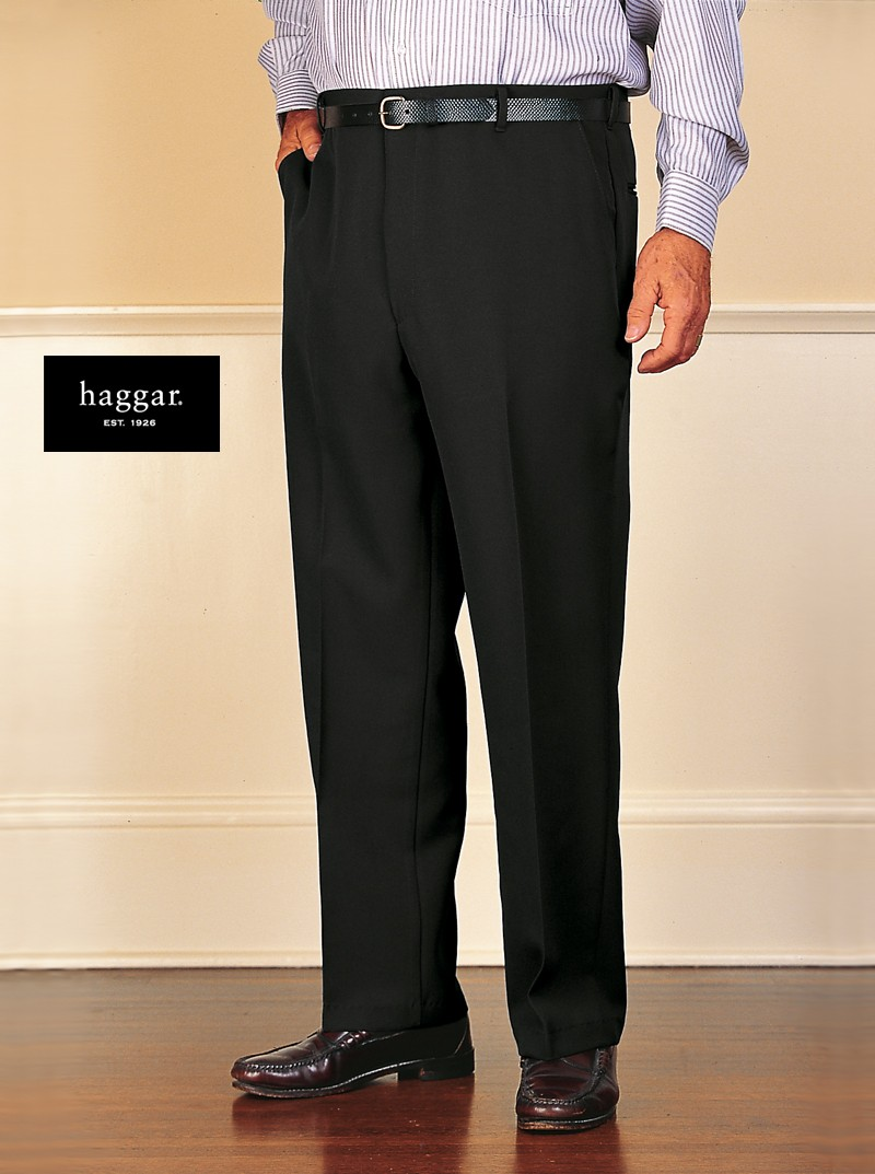 Men's Polyester Dress Slacks by Haggar – Buck & Buck