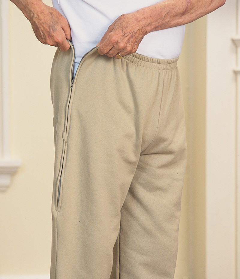 Men's Side-Zip Sweat Pants