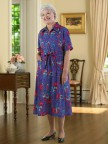 Short Sleeve Polyester House Dress Image 04