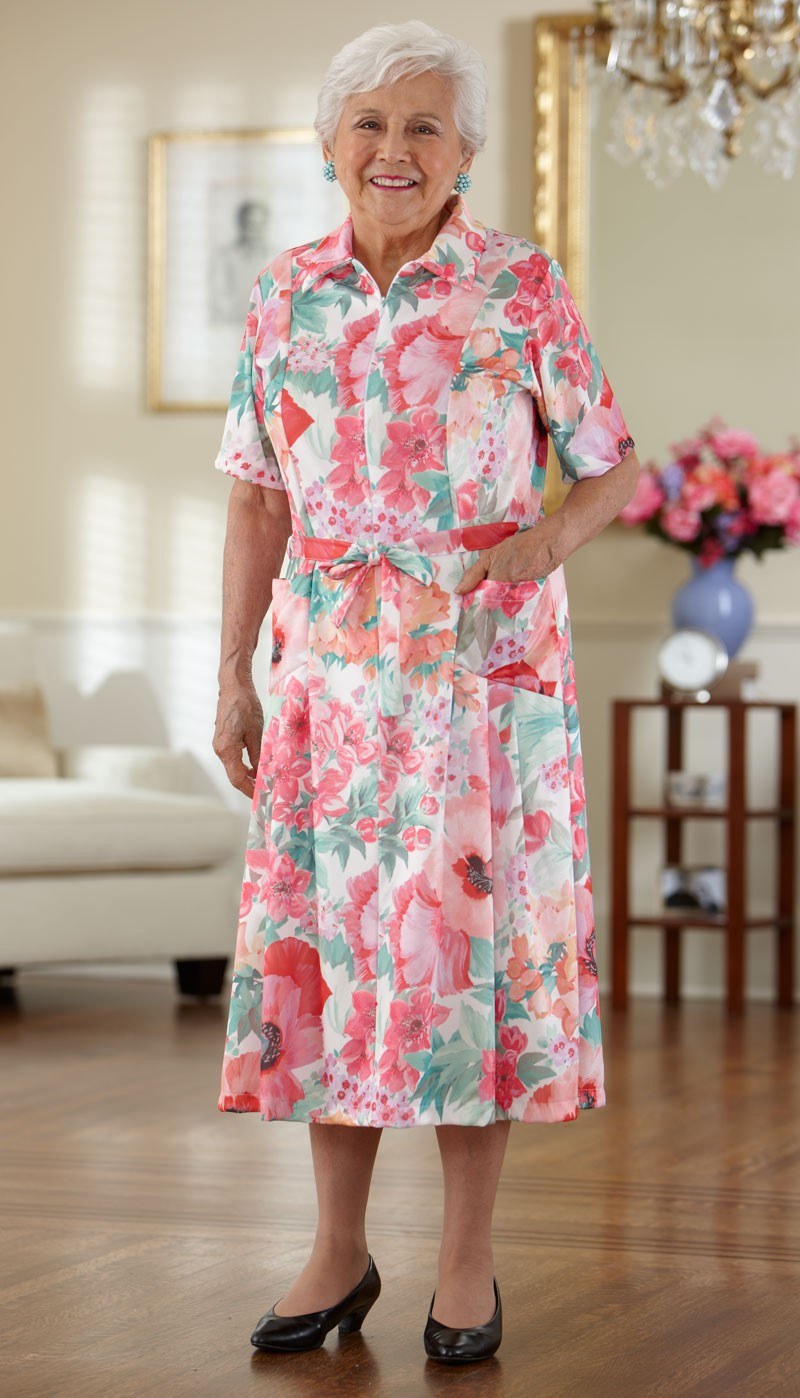 Short Sleeve Polyester House Dress