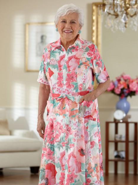 Short Sleeve Polyester House Dress