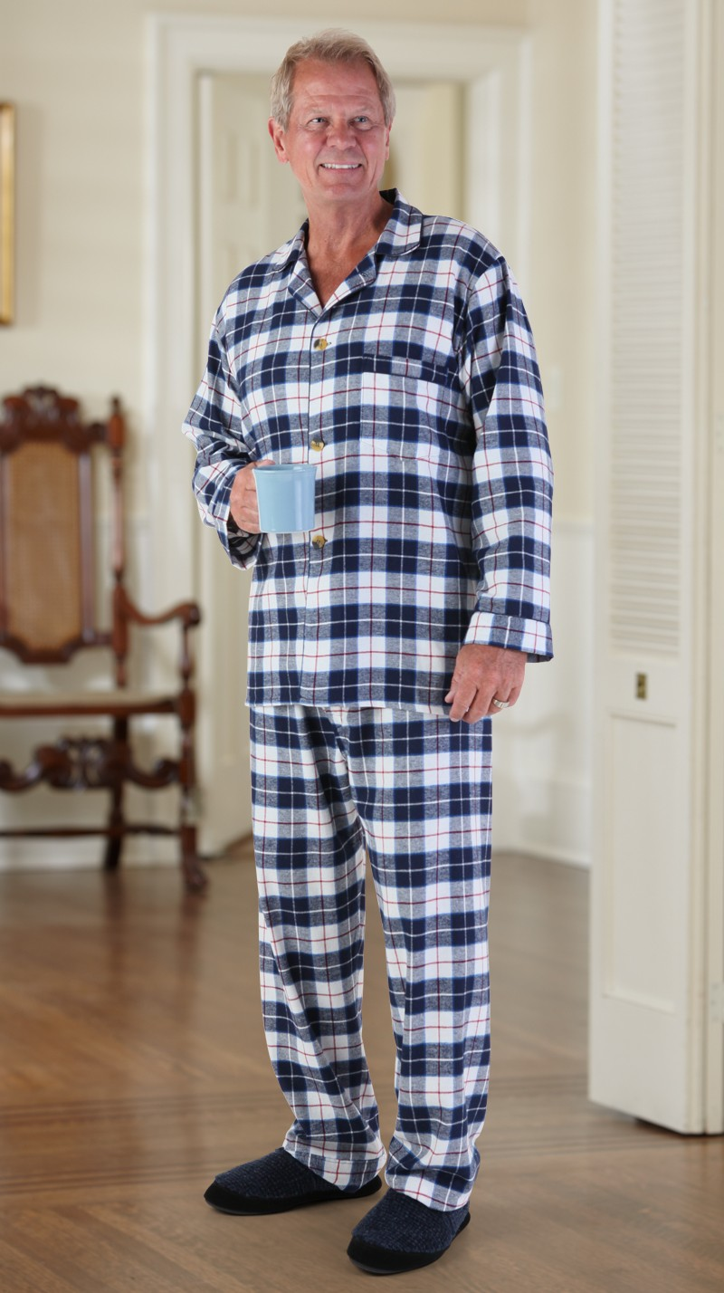 Men's Flannel Pajamas (S-XL) – Buck & Buck