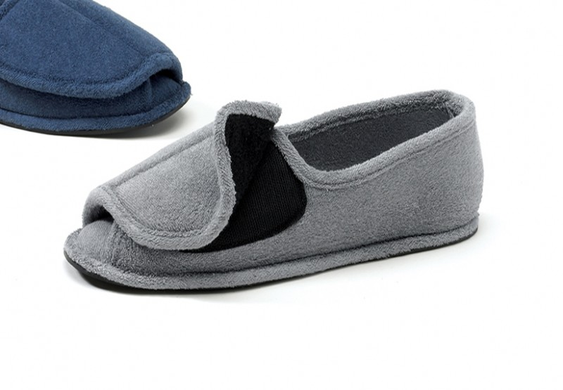 Mens Shoe Slippers Men's Open Toe Terry Slipper