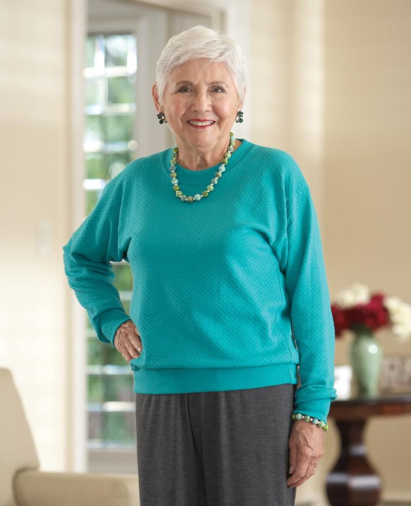 Women'S Banded Long Sleeve Blouses 112