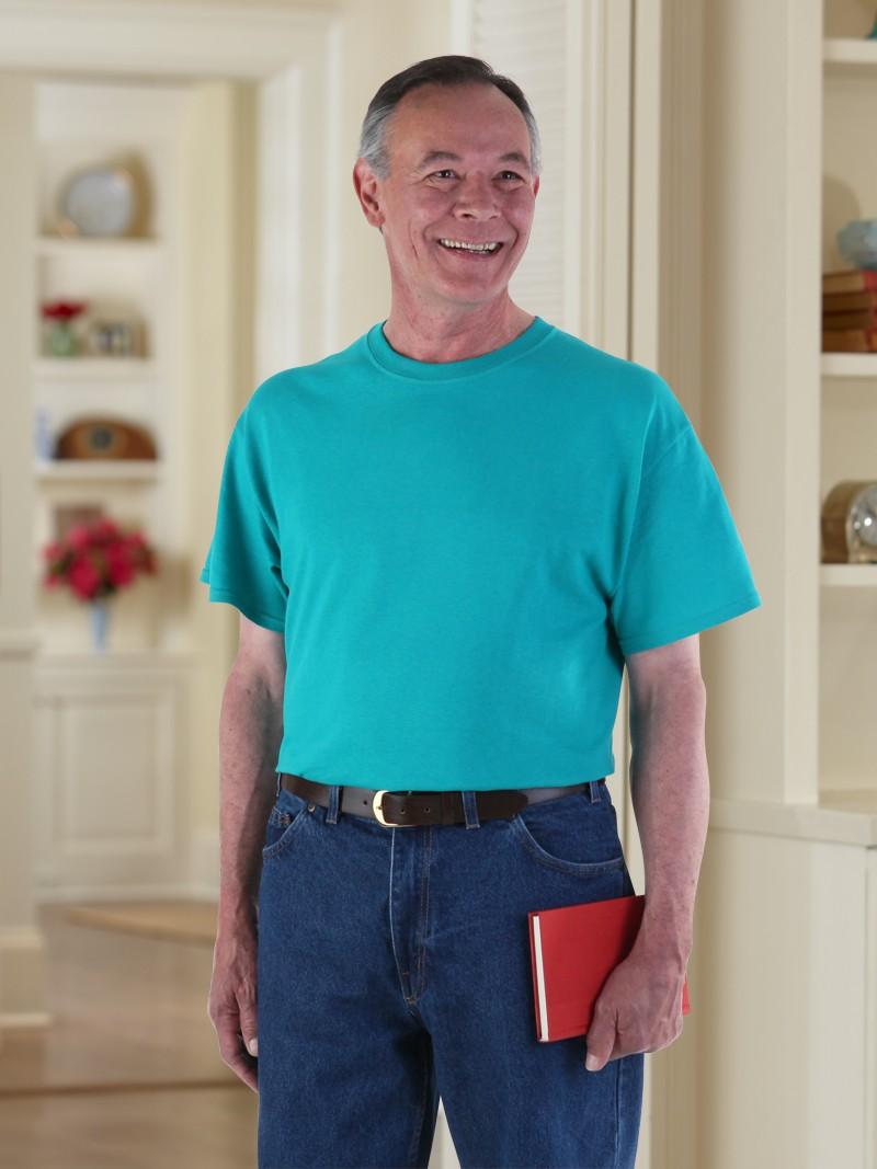 Men 39 S Short Sleeve Solid Snap Back T Shirt Buck Buck