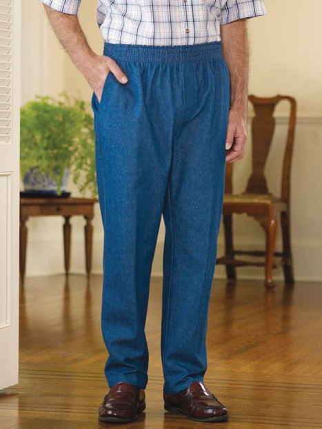 Men's Denim Putter Pants (2X-4X)