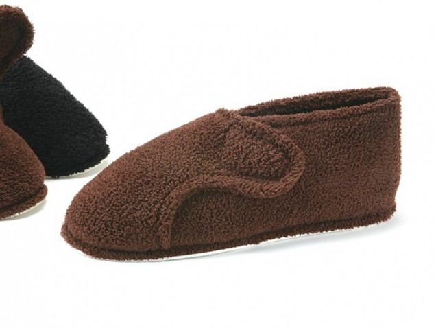 Men's Terry Velcro Slippers
