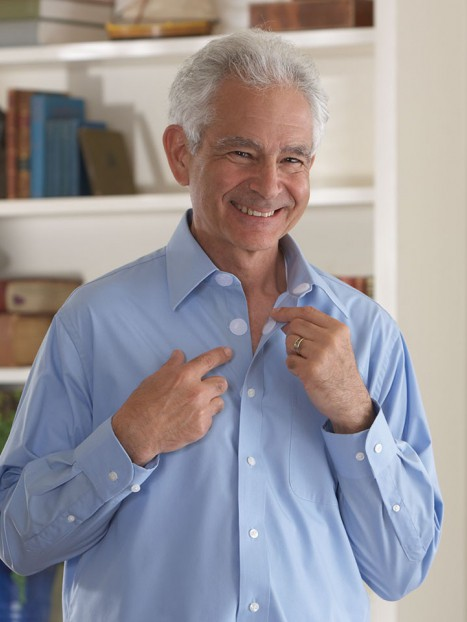 Long Sleeve Velcro Front Dress Shirt (Closed Collar)