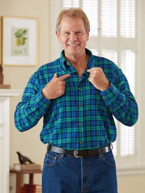 Flannel Shirt VELCRO® Brand fasteners