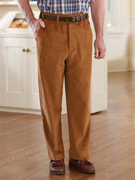 Corduroy Putter Pants with VELCRO® brand fastener fly