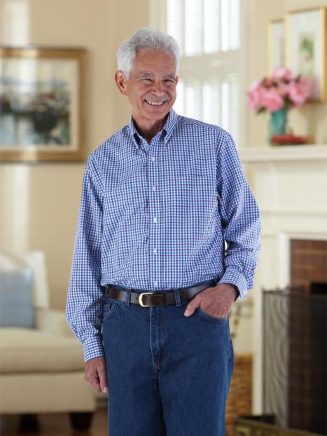 Gingham Shirt Long Sleeves VELCRO® brand fasteners