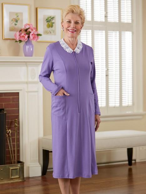 Lace Collar Knit Dress