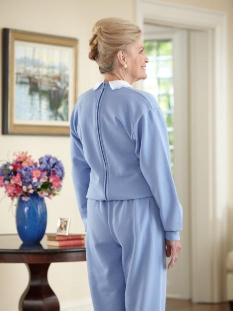 Women's Printed Sweat Jumpsuit w/Collar (S-XL)