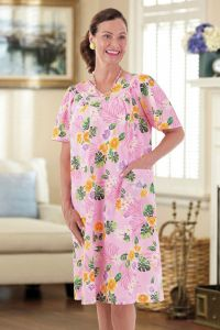 Hawaiian Print Wrap Back Muu Muu