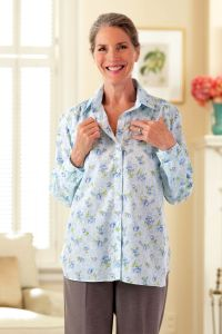 Cotton/Poly Blouse with VELCRO® Brand fasteners