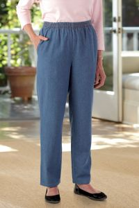 Women's Denim Pull-on Pants