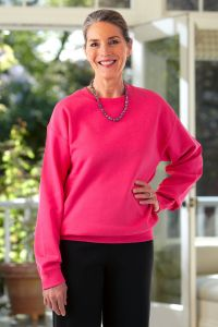 Women's Large Size Basic Sweat Top (3X-5X)