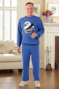 Men's Large Size Printed Sweatsuit (2X & 3X)