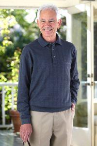 Men's Long Sleeve Banded Polo Shirt