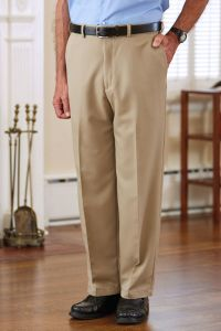 Men's Polyester Dress Slacks VELCRO® Brand fasteners Fly