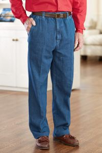 Denim Zip Fly Putter Pants (S-XL)