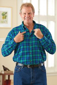 Flannel Shirt with VELCRO® Brand fasteners