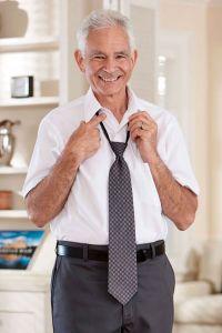 Short Sleeve Dress Shirt w/ VELCRO® Brand Fasteners (Closed Collar)
