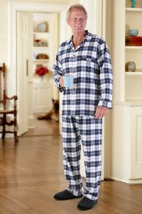 Men's Flannel Pajamas-VELCRO® Front