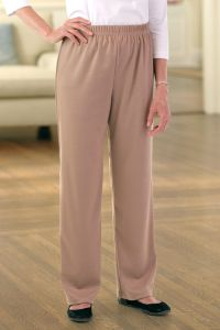 Double Knit Side-Zip Pants