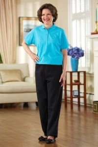 Women's Polo Top/Fleece Pant Jumpsuit