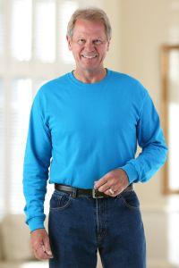 Men's Long Sleeve Solid T-Shirt