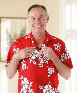 Hawaiian Shirt w/ VELCRO® Brand Fasteners