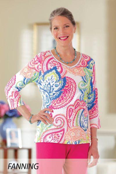 Block Print Knit Top (S-XL)