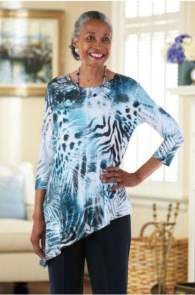 Asymmetric Tunic by Jess and Jane (Small only) 1/2 price!