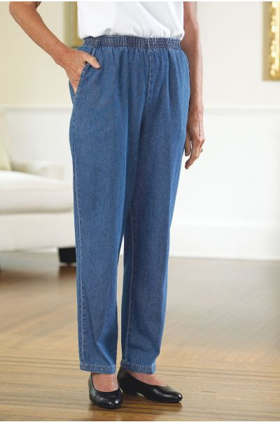 Women's Cotton Denim Pull-on Pants